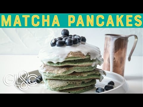 Matcha Coconut Pancakes | St Patrick's Day | GLAC