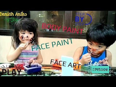 DIY Face Paint, Body Paint Using 2 ingredients, Very Easy