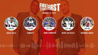 First Things First audio podcast(1.15.19) Cris Carter, Nick Wright, Jenna Wolfe | FIRST THINGS FIRST