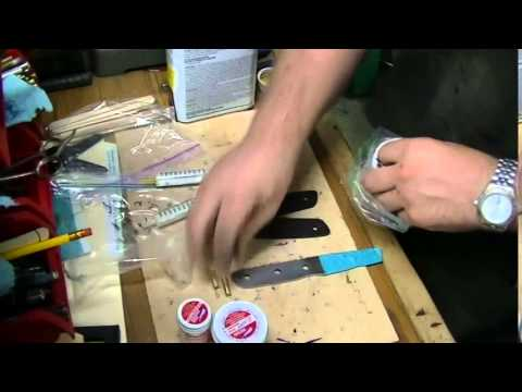 Knife making - How to Install mosaic pins in knife handles