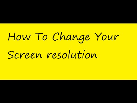 How To Change Your Screen resolution || Windows xp,7,8,10 ||Tips