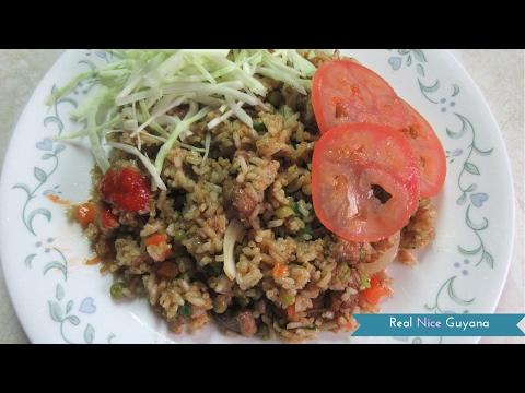Chicken Fried Rice, step by step Video Recipe II Real Nice Guyana ( HD)