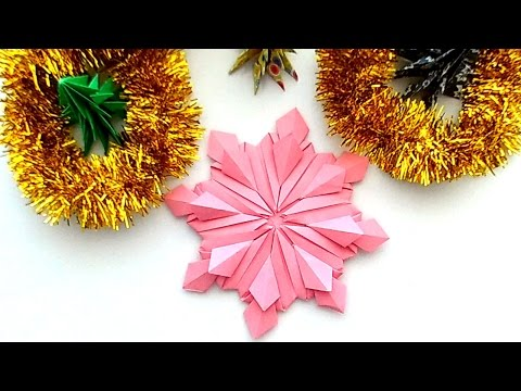 How to make a Snowflake? Modular Origami. Paper Snowflake. Christmas