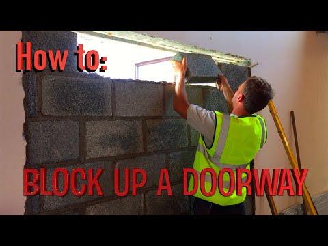 How to block up a doorway