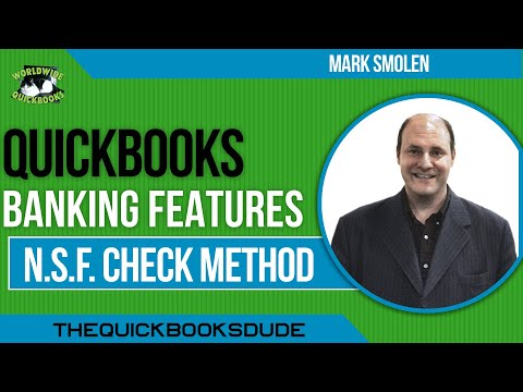 Learn QuickBooks video  5   bounced check  from sales receipts