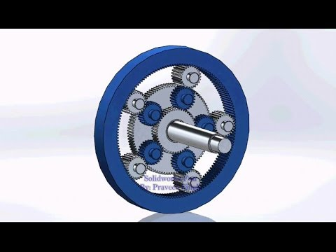 Planetary Gear Train Designing,Assembly and Motion Study in Solidworks