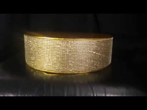Gold diamante cake stand ( no mirror)