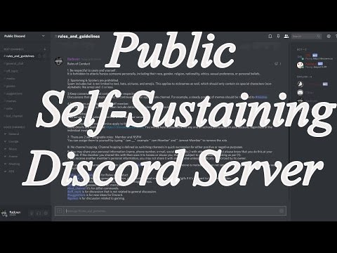 Public Self-Sustaining Discord Server via Bots - Self Assignable roles / Nsfw