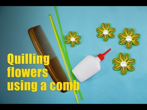 Quilling Flower Tutorial| paper flowers making using hair comb for beginners