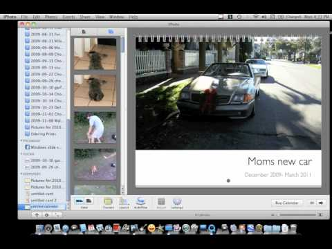 iPhoto Calendar Tutorial