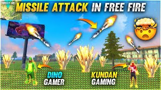 FREE FIRE MISSILE ATTACK 😂 FUNNY MOMENTS UNLIMITED LANDMINE PLAYING WITH DJ ALOK- Garena Free Fire