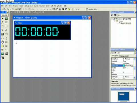 How to make a cool digital clock in Visual Basic 6.0