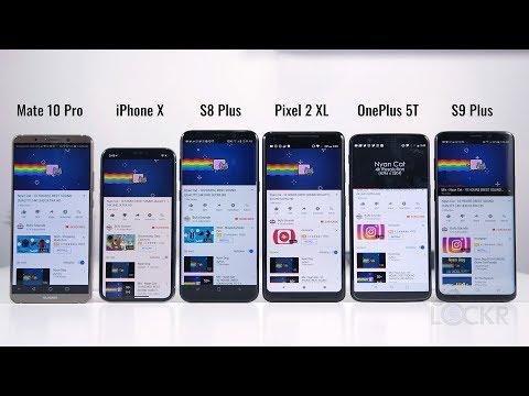 Battery Test: Galaxy S9 Plus vs iPhone X vs Pixel 2 XL vs Mate 10 Pro vs OnePlus 5T vs S8 Plus