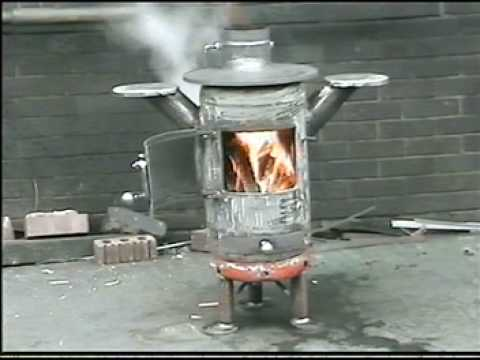 Stove 5 finished making pot belly stove,back boiler,recycled,propane gas cylinder.