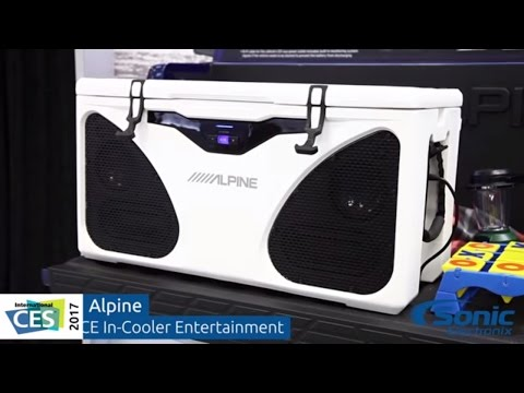 Alpine PWD-CB1 ICE In-Cooler Entertainment System   CES 2017