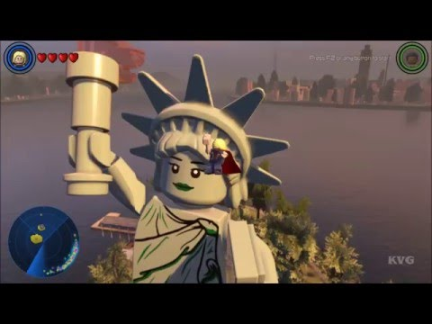 LEGO Marvel's Avengers - Liberty Statue Island (Manhattan) | Free Roam Gameplay (PC HD) [1080p60FPS]