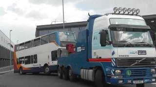 Stagecoach East Midlands Transbus Trident Ii President 18055 (kx53 Vnf) Getting Towed