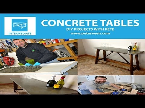 How to Build a Concrete Table | Concrete Counter Top | Episode 2