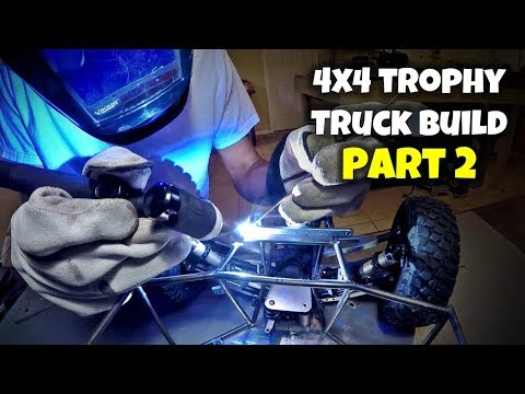Custom 4x4 RC Trophy Truck Build - Part 2: Shocks/Sway Bar Mounts & Upper Chassis