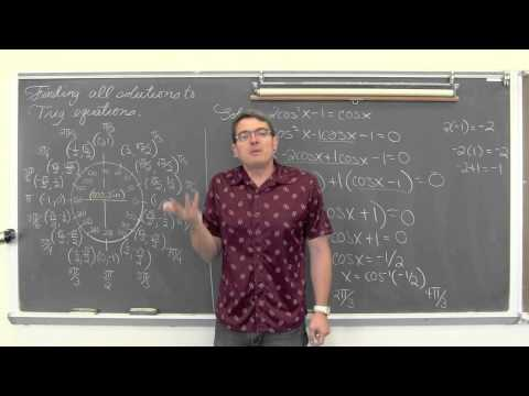 Single Angle Trigonometric Equations All Solutions