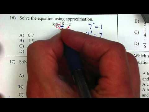 Algebra 2 - Approximate Logs P16