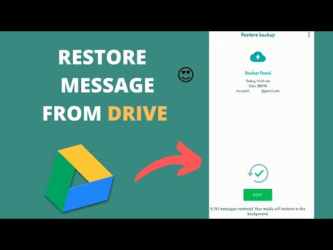 How to  restore old whats app messages from google drive? Restore from Drive