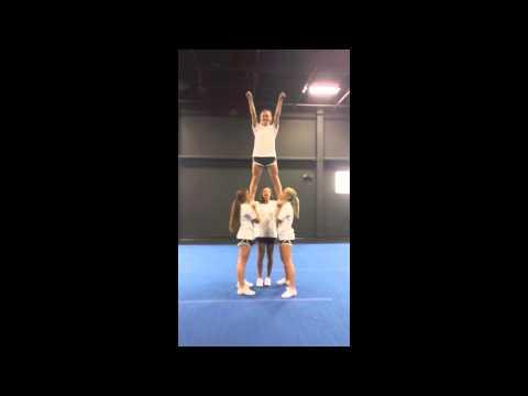 Advanced Cheerleading Stunt Progression: Cradle