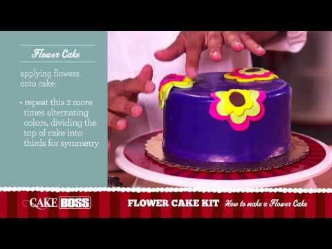 How to Make a Flower Cake - Dessert Decorating Tips & Tecnhiques - Cake Boss Baking