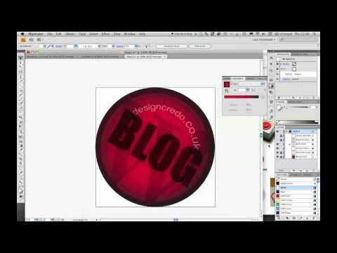 Creating a glass effect vector button in Illustrator CS4