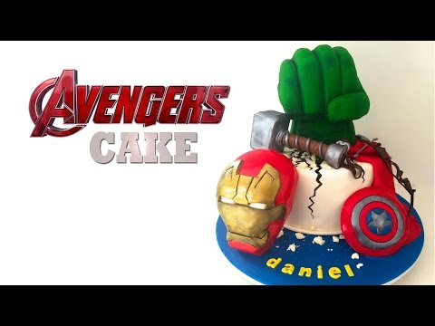 AVENGERS CAKE (Captain America, Hulk, Iron Man) by How To Cook That, CIVIL WAR CAKE