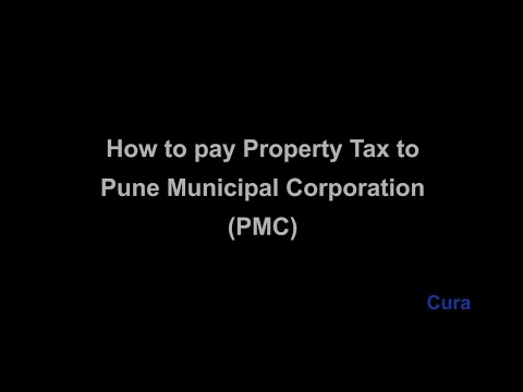 How to Pay Property tax bill to Pune Municipal Corporation ?
