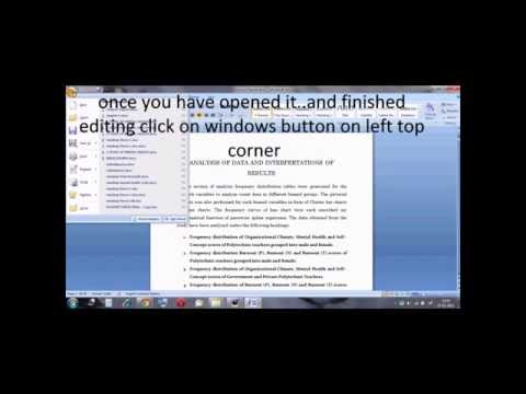 How to Convert 2007 Word File To 2003 Word Format(.docx to .doc)