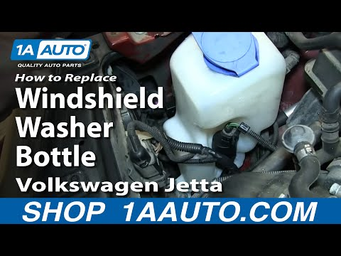 How To Install Replace Windshield Washer Bottle 2000-06 VW Jetta and Golf