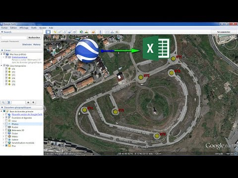 How to export UTM coordinate of a set of points from google earth to excel