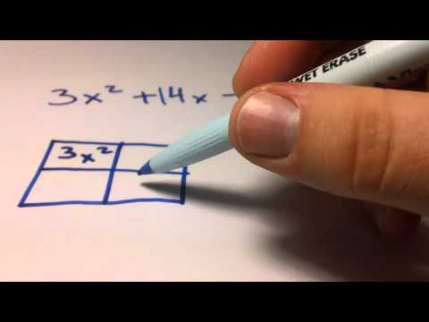 Factoring a Quadratic Equation When a is greater than 1