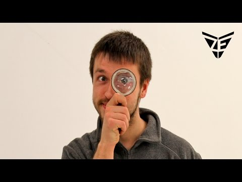 How to Make Magnifying Glass Out of A Bottle (easy)🔎