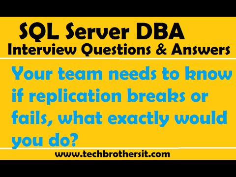 SQL Server  | Your team needs to know if replication breaks or fails, what exactly would you do