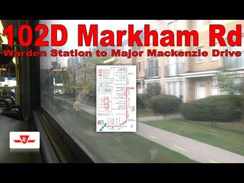 102D Markham Rd - TTC 2010 Orion VII NG 8103 (Warden Station to Major Mackenzie Drive)