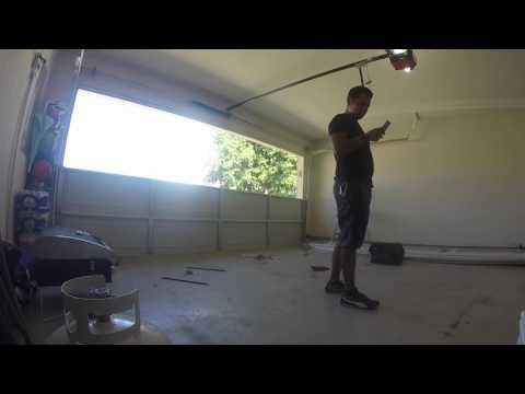 How to install garage door panels?