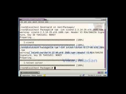 how to configure telnet on redhat linux 6 step by step in hindi