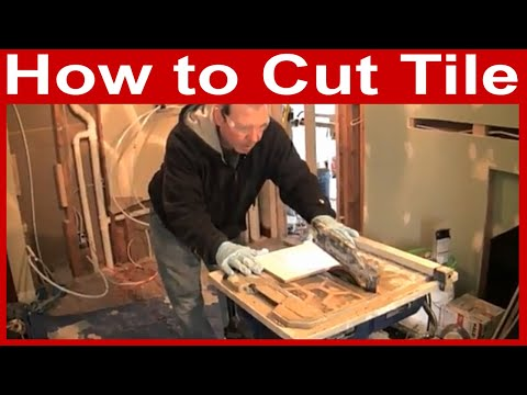 How to Cut Tile with a Wet Saw - Kobalt Tile Saw Review