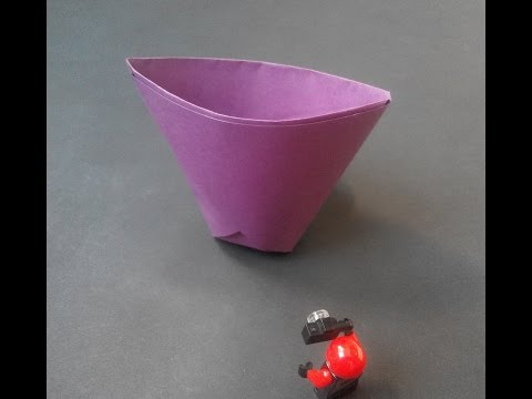 How to make: Paper cup. Бумажный стаканчик. Pappbecher.