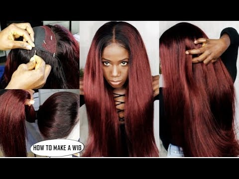 HOW TO:  MAKE A WIG AND COLOR HAIR BEGINNERS FRIENDLY : TUTORIAL VIDEO  FT LEMODA