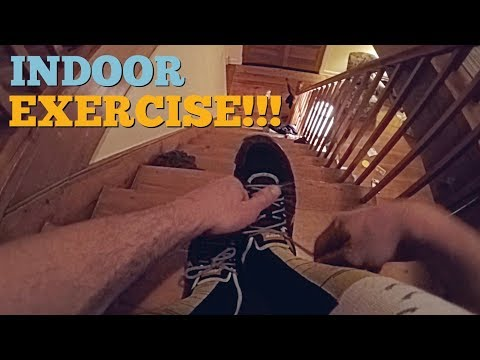 INDOOR EXERCISE - HOW TO EXERCISE WITH 3 KIDS IN -23 DEGREES CELSIUS