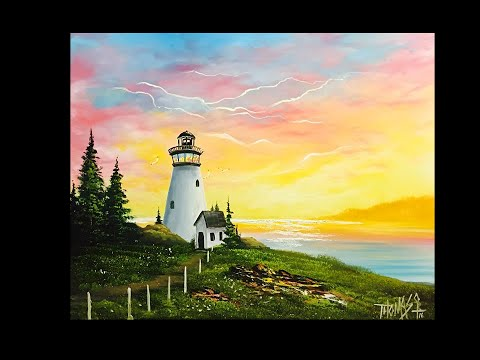 FREE PAINTING LESSON - Landscape painting -Painting with magic season 4 ep 10 Light of the sea