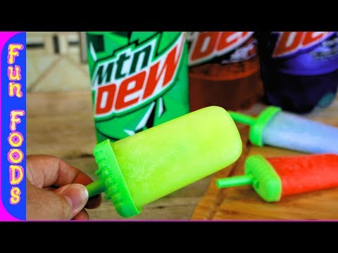 How to Make Homemade Popsicles | Easy Mountain Dew Popsicles