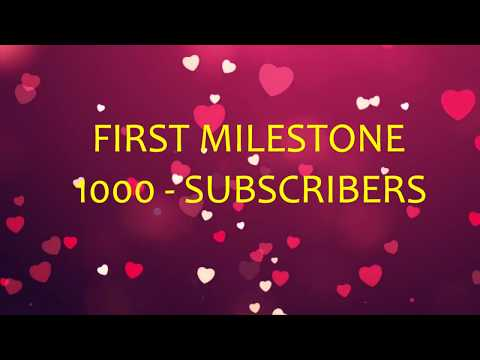 thanks a lot to all my subscribers-for 1000 subscribers