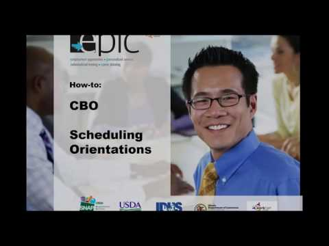EPIC Tutorial CBO Scheduling Intake Appointments