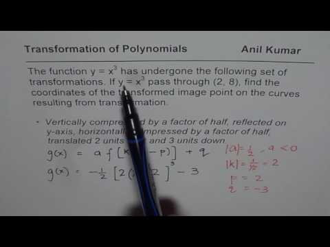 How to Calculate the Coordinates of Transformed Image Points in Polynomials