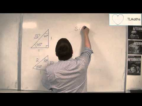 OCR MEI Core 2 2.08a Finding Exact Values of sin(x), cos(x) and tan(x) using Two Triangles